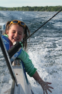 grandaughter on the boat