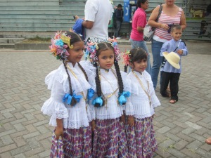 Some little dancers at a recent festival in Boquete
